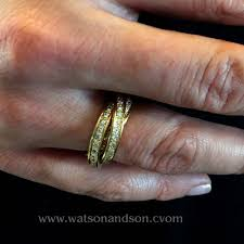 cartier diamond ring 18 kt yellow gold de cartier diamond ring watson
