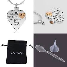 memorial pendants heart cremation urns necklaces for ashes keepsake jewelry