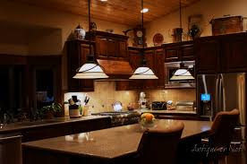 Lighting Above Kitchen Cabinets Antique Or Not Decorating Above Your Cabinets