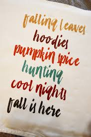 fall is here fall pillow with the cricut easypress the happy