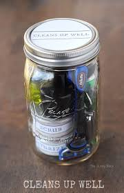 cleans up well pampering jar for men this mason jar gift for
