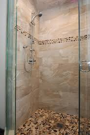 glass enclosed shower gray brown tile shower with st martin glass enclosed shower gray brown tile shower with st martin stones on floor