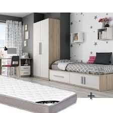 chambre enfant complet chambre enfant complete lit 90x190 chene blanc achat vente