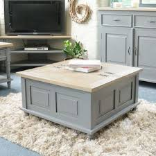 White Painted Coffee Table by Coffee Tables Leather Trunk