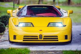 yellow bugatti model perspective bugatti eb110 premier financial services