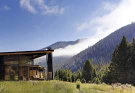 montana house mountain views outdoor living river bank house montana by