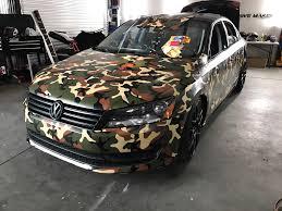 camo wrapped cars vwvortex com custom camo wrapped passat
