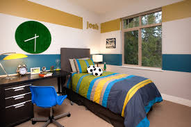 boys headboard ideas bedroom how to paint stripes on a wall for tween boys room