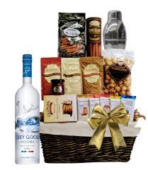 vodka gift baskets grey goose w shaker gift basket wine globe
