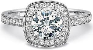 precision set rings precision set cushion halo diamond engagement ring 7379