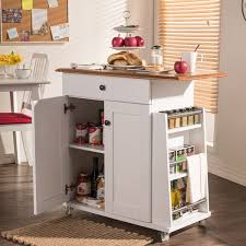 wood kitchen island cart traditional white wood kitchen island by baxton studio free