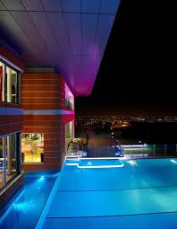 Modern Home Lighting Design by Ultramodern Orange House Takes Home Lighting To Extreme