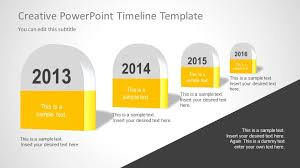 creative timeline template for powerpoint slidemodel