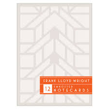 frank lloyd wright font free frank lloyd wright embossed designs notecard set shop flw