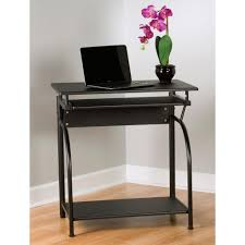 small black writing desk comfort products stanton computer desk with pullout keyboard tray