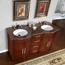 48 Double Sink Bathroom Vanity by Silkroad Exclusive 58 Inch Hyp 0221 Bb Uwc Double Sink Bathroom Vanity