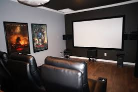 diy home theater movie room with epson 3020 projector klipsch 525