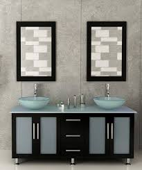 abaco 59 inch double vessel sink bathroom vanity glass countertop