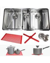 Kitchen Sink Combo - savings on ariel 42 inch stainless steel silver triple bowl 15mm