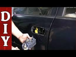 Toyota Tacoma Exterior Door Handle How To Remove And Replace A Broken Exterior Door Handle Toyota