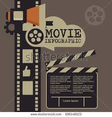 cinema festival poster template vector camcorder stock vector