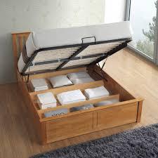 malmo oak wooden ottoman bed