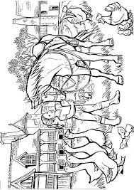 coloriage cheval ferme sur hugolescargot com