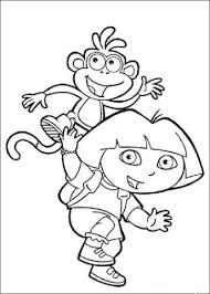 dora boots coloring free printable coloring pages