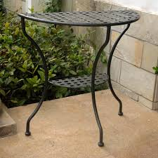 black metal entry table black half moon entry table best table decoration