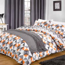 kite orange duvet cover and pillowcase set