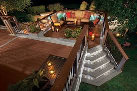 Deck Ideas For Backyard Backyard Deck Lighting Ideas