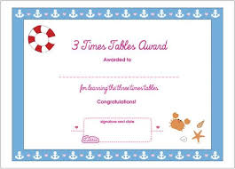 3times Table 3 Times Tables Printable Award Certificate U2013 Lottie Dolls
