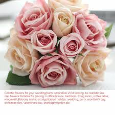 difference between thanksgiving and christmas aliexpress com buy pretty charming lovely cute artificial rose