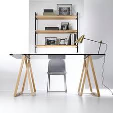 bureau en verre bureau verre treteaux les meilleures affaires sont sur eprofeel