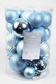 Blue Silver Christmas Decorations Uk by 34 Luxury Shatterproof Christmas Baubles Decorations Pale Blue