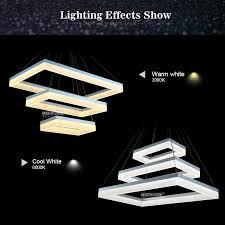 esszimmer len pendelleuchten moderne led pendelleuchten acryl 3 rechtecke led pendelleuchte