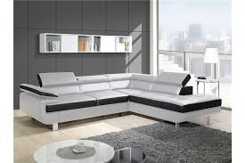 canapé d angle blanc et noir canapé design d angle studio cuir pu noir canapés d angle