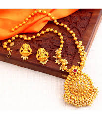 necklace design gold images Sukkhi classic laxmi design gold plated necklace set for women jpg