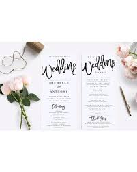 rustic wedding program template sale wedding program template modern wedding program
