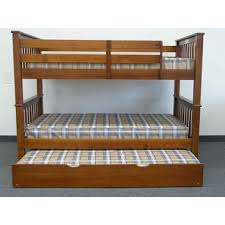 Twin Over Twin Bunk Beds With Trundle by Save On Twin Over Twin Bunk Bed With Trundle Light Brown