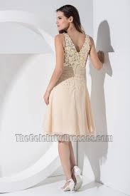 chic short chiffon v neck sequins party dress homecoming dresses