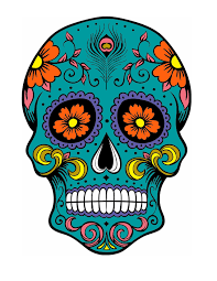 dia de los muertos sugar skulls concept for pyrography 12 x12 birch plywood and