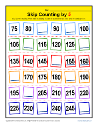 skip counting by 5 patterns 2nd grade math activities