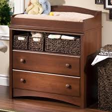 Dark Brown Changing Table by White Baby Changing Table 2 Fixed Shelves Safety Belt Top Safety