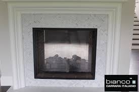 carrara carrera bianco polished 1x2 herringbone mosaic tile