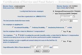 employment certificate with salary division of pensions and benefits