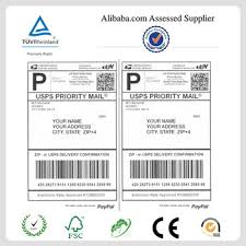 china supplier blank a4 international shipping labels for ebay