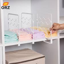 orz 3pcs thicken closet shelf dividers clothes organizer wardrobe
