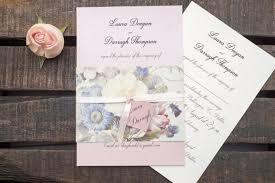 handmade wedding invitations handmade wedding invitations sided paper vintage flower