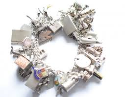 charm bracelet vintage silver images Heavy vintage silver charm bracelet full of charms JPG
